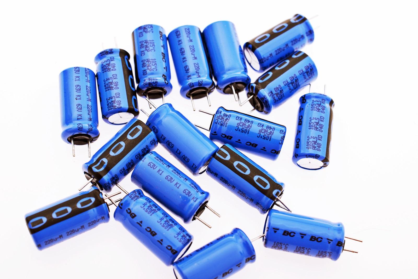 10pcs 10x Elko 220µF 63V 105°C Kondensator 10x18mm RM5 ROE #713322