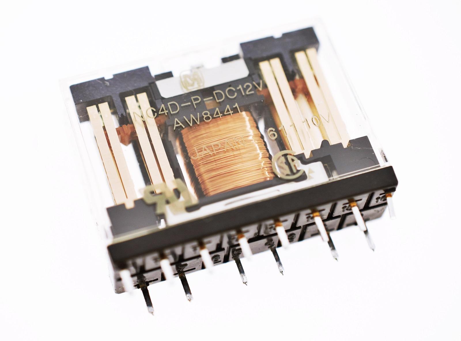 4 Form C Panasonic 4PDT 5A 12V Relais NC4D-P-DC12V *NEU* #715180
